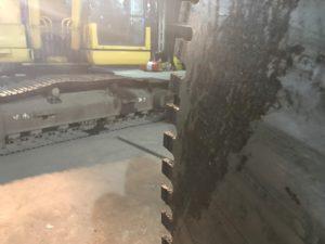 Алмазная пила на экскаватор Pilemaster для камнерезных работ